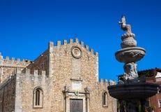 Cathedral San Nicola in Taormina, Sicily Stock Image