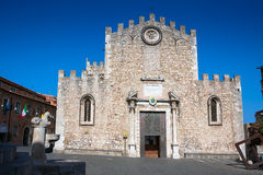 Cathedral San Nicola in Taormina, Sicily Royalty Free Stock Photography
