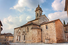 Cathedral of San Quirico d'Orcia Stock Image