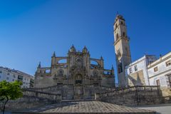 The Cathedral of San Salvador in Jerez de la Frontera, Andalusia stock image