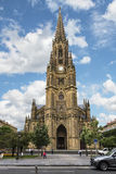 Cathedral in San Sebastian is the largest religious structure in the Basque country Stock Photography
