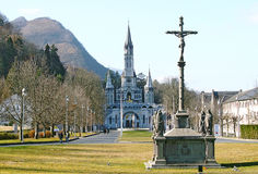 Cathedral-sanctuary of Lourdes France Royalty Free Stock Photo