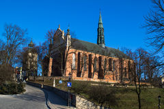 Cathedral in Sandomierz, Poland Stock Image