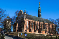 Cathedral in Sandomierz, Poland Stock Photo