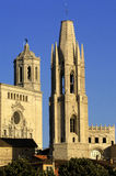 Cathedral and Sant Feliu Church, Girona, Catalonia, Spain Royalty Free Stock Photography