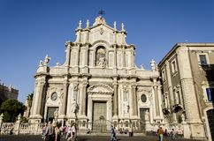 Cathedral of Santa Agata in Catania, Italy Stock Images