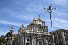 Cathedral of Santa Agata in Catania Stock Photography