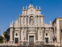 Cathedral of Santa Agatha in Catania stock images