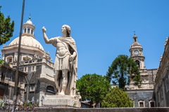 Cathedral of Santa Agatha in Catania in Sicily royalty free stock photos
