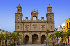 Cathedral of Santa Ana in Gran Canaria. Cathedral of Santa Ana in Las Palmas de Gran Canaria royalty free stock photography