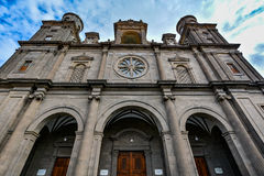 Cathedral of Santa Ana (Holy Cathedral-Basilica of the Canaries) in Las Palmas royalty free stock image