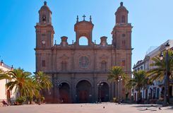Cathedral Santa Ana in Las Pal Royalty Free Stock Image