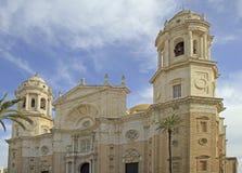 Cathedral of Santa Cruz in spanish city Cadiz stock photos