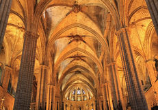 Cathedral of Santa Eulalia in Barcelona, Spain. Royalty Free Stock Photography