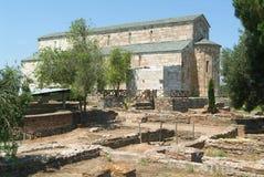The Cathedral of Santa Maria Assunta La Canonica near Bastia on Royalty Free Stock Photo