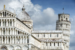 Cathedral Santa Maria Assunta and Leaning Tower of Pisa Stock Images