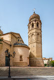 Cathedral Santa Maria Assunta in Oristano. ORISTANO,ITALY - SEPTEMBER 20,2014 - Cathedral Santa Maria Assunta in Oristano. It is built in the Baroque style, and stock photography