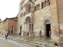 Cathedral of Santa Maria Assunta of Parma, in Emilia-Romagna. Italy. Royalty Free Stock Photography