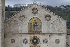 Cathedral Santa Maria Assunta in Spoleto Royalty Free Stock Photography