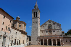 Cathedral of Santa Maria Assunta in Spoleto Stock Photography