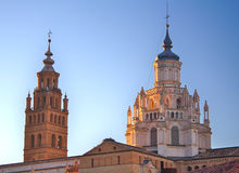 Cathedral of Santa Maria de la Huerta, Tarazona, Royalty Free Stock Photography