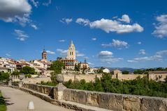 Cathedral of Santa Maria de Segovia in the historic city of Segovia, Spain royalty free stock images
