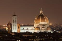 Cathedral Santa Maria dei Fiore. Illuminated Cathedral Santa Maria dei Fiore, Florence, Tuscany, Italy Royalty Free Stock Photo