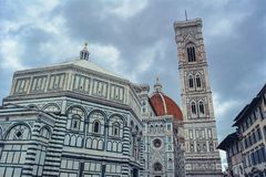 Cathedral of Santa Maria del Fiore and Baptistery of St. John stock photography