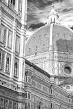 Cathedral Santa Maria del Fiore in black and white stock photo