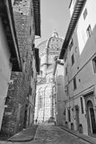 Cathedral Santa Maria del Fiore in black and white royalty free stock photos
