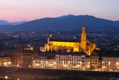 Cathedral of Santa Maria del Fiore (Duomo) at dusk Stock Image