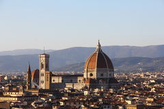 Cathedral of Santa Maria del Fiore (Duomo) at dusk, Florence, Italy Stock Photography
