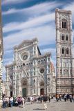 Cathedral Santa Maria del Fiore Duomo and Giotto`s Campanile Royalty Free Stock Photos