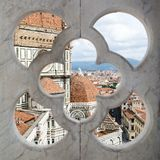 Cathedral Santa Maria del Fiore through the fence Stock Image