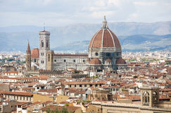 Cathedral of Santa Maria del Fiore in Florence Stock Photos