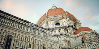Cathedral of Santa Maria del Fiore in Florence, Italy. Vintage effect. Royalty Free Stock Image