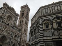 Cathedral of Santa Maria del Fiore, Florence. Perspective view of the Cathedral of Santa Maria del Fiore in Florence, Itlaia stock photography