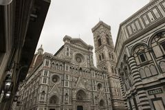 Cathedral of Santa Maria del Fiore, Florence. Perspective view of the Cathedral of Santa Maria del Fiore in Florence, Itlaia stock photo