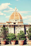 Cathedral Santa Maria del Fiore in Florence, Tuscany, Italy, pho. Cathedral Santa Maria del Fiore in Florence, Tuscany, Italy. Cultural heritage. Photo filter Stock Images