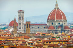Cathedral Santa Maria Del Fiore with Giotto's Campanile, Florence, Italy Stock Images