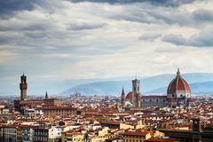 Cathedral Santa Maria del Fiore and Palazzo Vechio Stock Photography