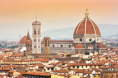 Cathedral Santa Maria Del Fiore at sunset in Florence, Italy Stock Photo