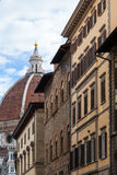 Cathedral Santa Maria del Fiore and urban houses Stock Image