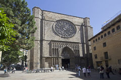 Cathedral of Santa Maria del Pi in Barcelona Stock Photos