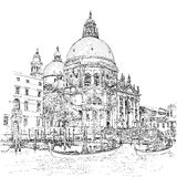 Cathedral of Santa Maria della Salute. Venice. Italy Royalty Free Stock Images