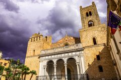 Cathedral of Santa Maria Nuova, in the historic center of Monreale, Sicily royalty free stock images