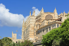 The Cathedral of Santa Maria in Palma de Majorca Stock Photo
