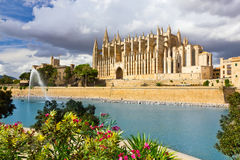 The Cathedral of Santa Maria of Palma de Mallorca Stock Photo