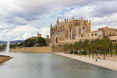 The Cathedral of Santa Maria of Palma de Mallorca Stock Image