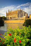 The Cathedral of Santa Maria of Palma de Mallorca Royalty Free Stock Images